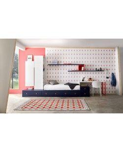 Ambiente para dormitorio juvenil con módulos blocks