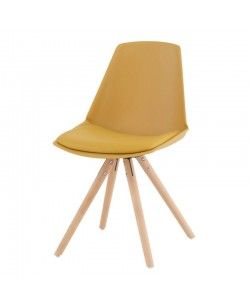 Silla forma alta asiento y respaldo tapizado